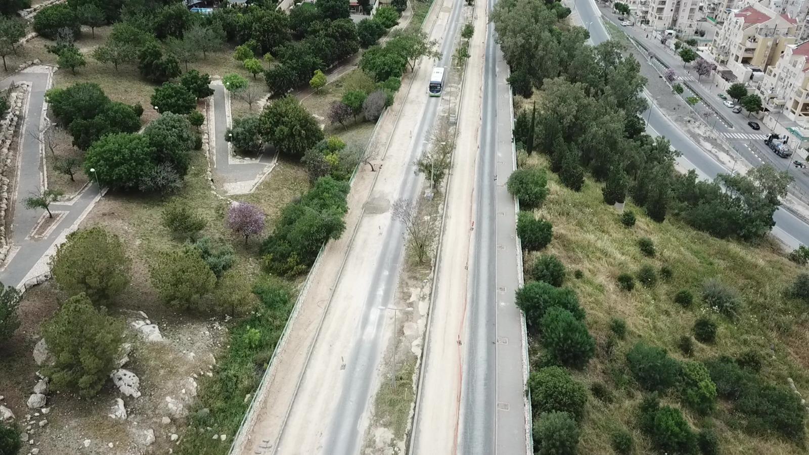כביש לוי אשכול (צילום: רווח הפקות)