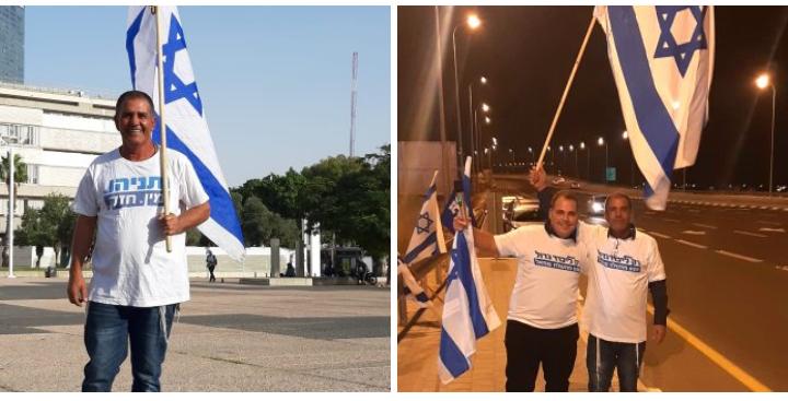 סימוני אסרף עם הפעיל ישראל אבוקסיס (צילום: פרטי)