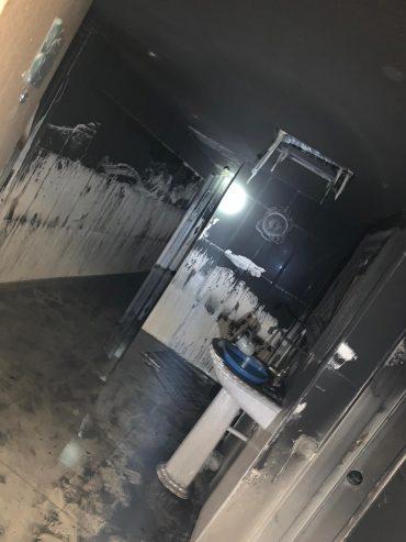 הדירה נשרפה כליל (צילום: דוברות כבאות והצלה בית שמש)