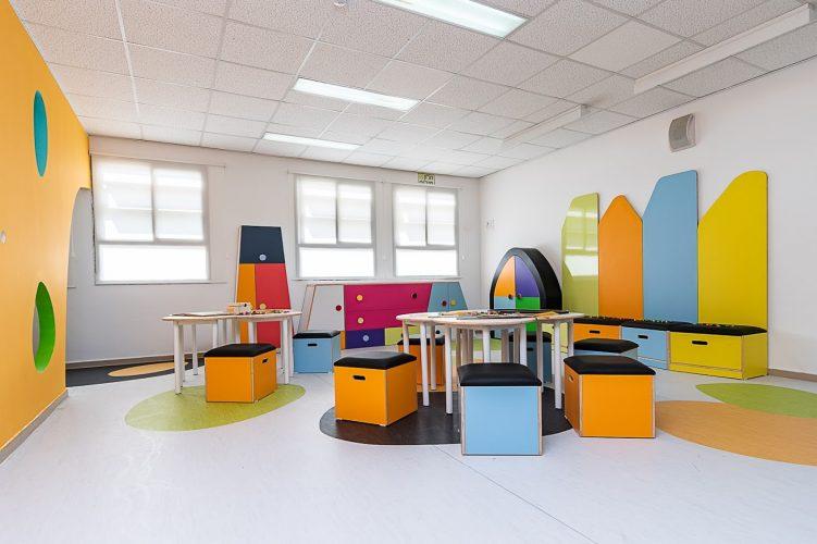 מרחב הלימוד החדש בבית הספר היסודי אבני חן (צילום: דקל אבו)