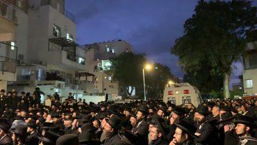"""רבים ליוו את הרב אברהם גלבמן ז""""ל בדרכו האחרונה (צילום: דוברות זק""""א)"""