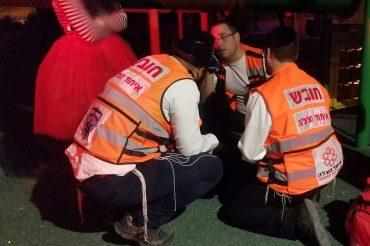 צוות איחוד הצלה במהלך אירוע (צילום: דוברות איחוד הצלה)