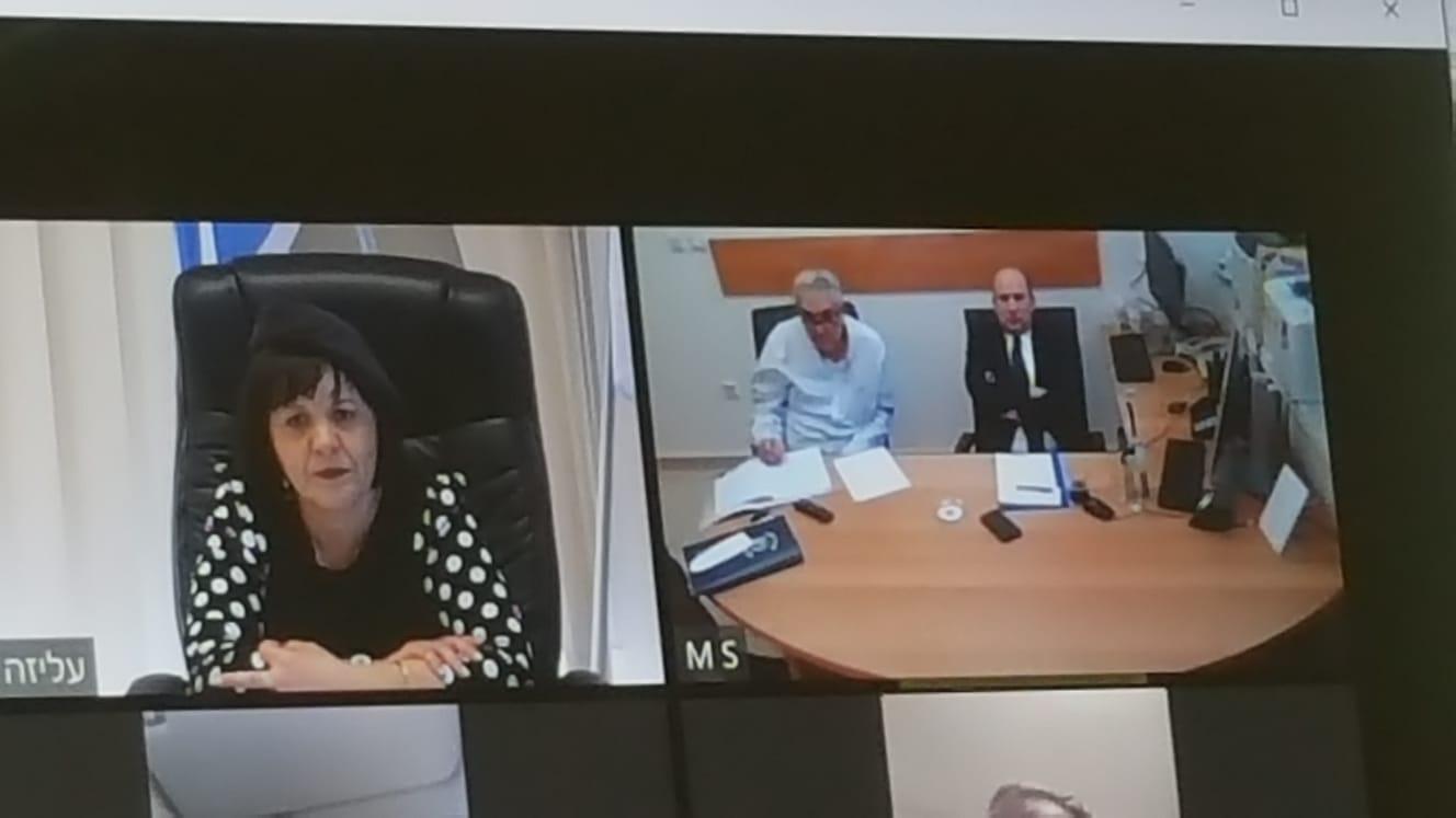 פגישת עבודה בין ראש העיר עליזה בלוך לשר הביטחון נפתלי בנט (צילום: באדיבות עיריית בית שמש)