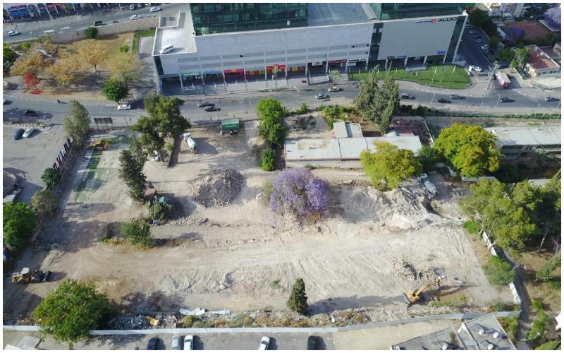 השטח שעליו נבנה היכל התרבות (צילום: עיריית בית שמש)