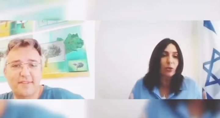 שיחת הוידאו בין השרה מירי רגב לאורי כהן (צילום: מתוך עמוד הפייסבוק של מירי רגב)