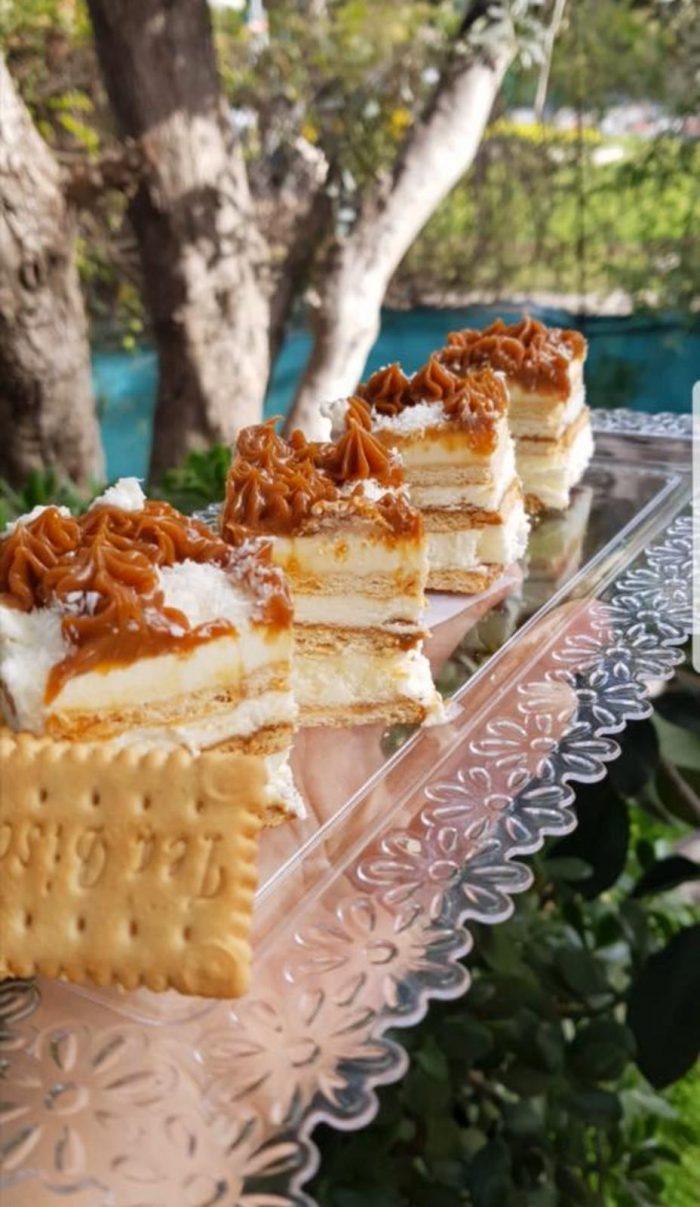עוגת ביסקוויטים ריבת חלב וקוקוס (צילום: באדיבות אופירה פחימה-יחיא)