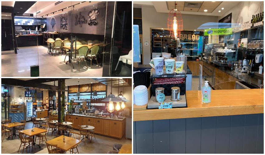 קפה גרג (מימין), בליקר בייקרי (למטה), סטקייה בעיר (צילומים: אלבום פרטי)