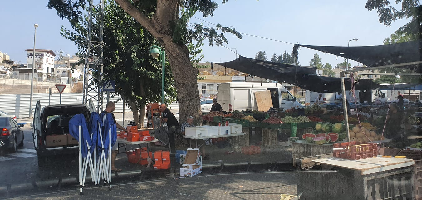 מתחם השוק העירוני בבית שמש (צילום: s.t)
