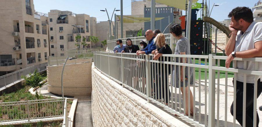 סיור העבודה ברמת בית שמש ג' (צילום: עיריית בית שמש)