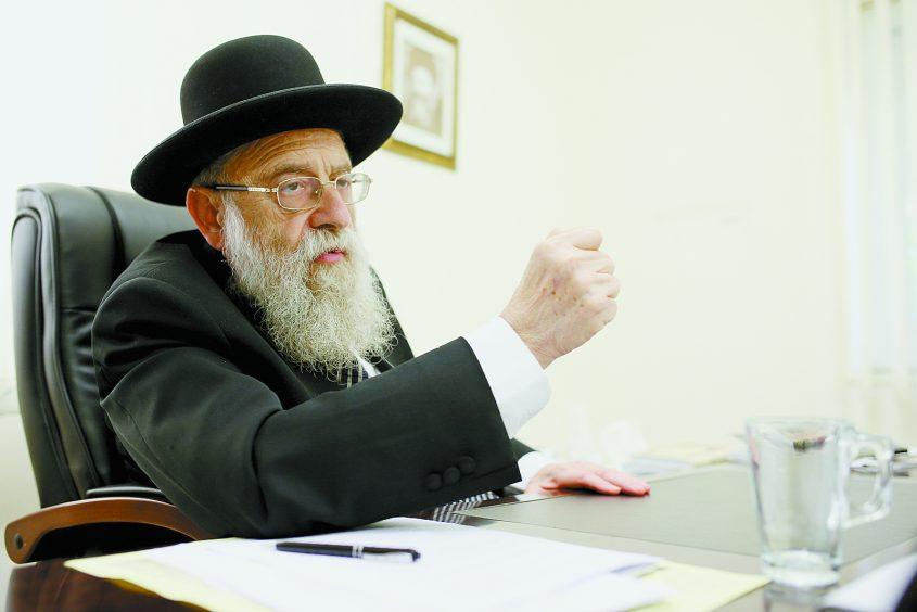 הרב אריה שטרן (צילום: אורן בן חקון)