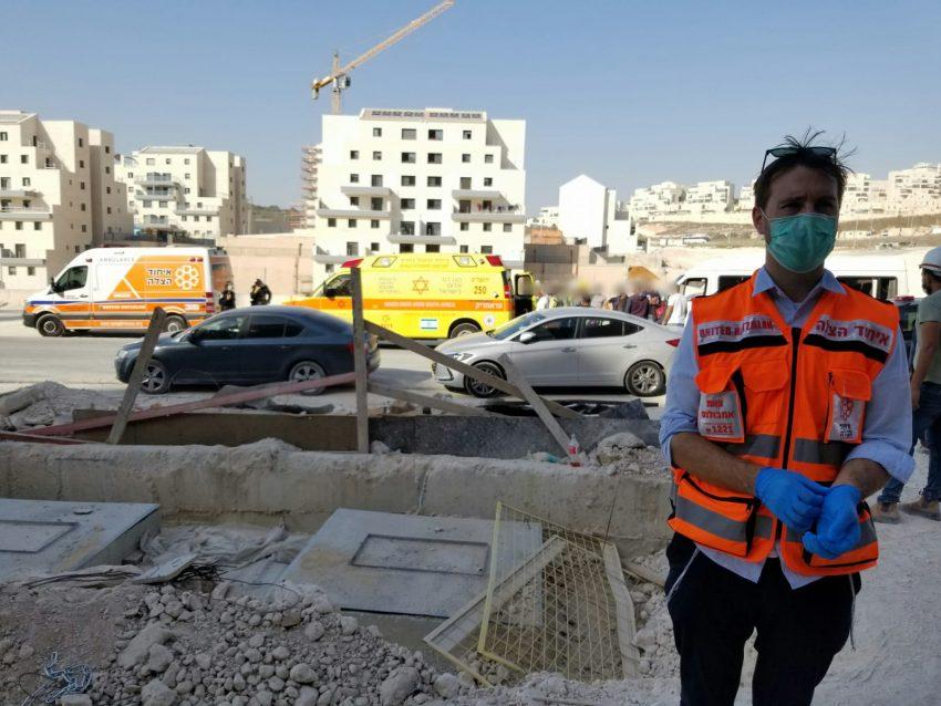 זירת התאונה ברמת בית שמש (צילום: דוברות איחוד הצלה)