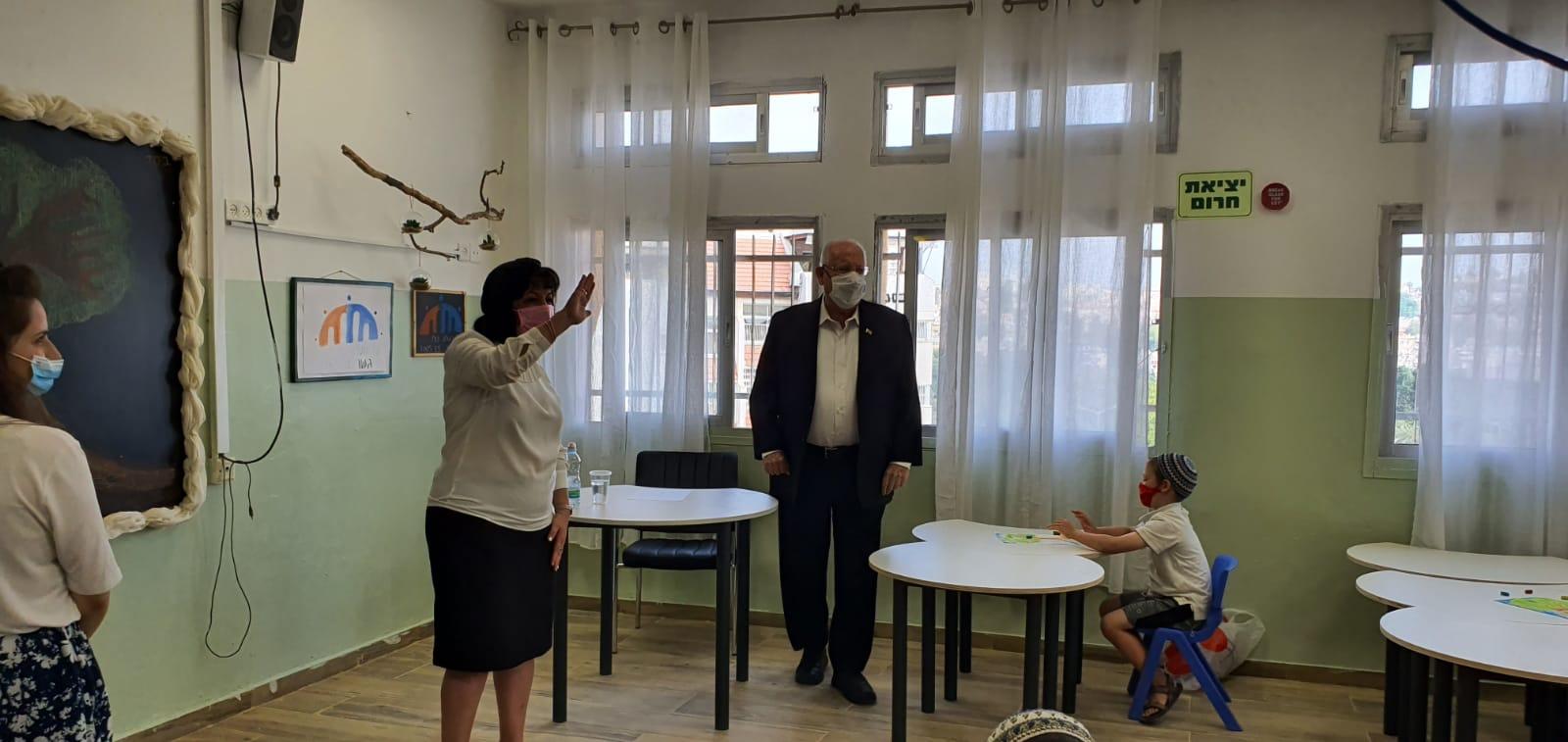 """ראש העיר עליזה בלוך עם הנשיא ראובן ריבלין (צילום: מארק ניימן/לע""""מ)"""