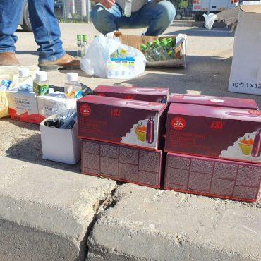 תפיסת האלכוהול המזויף בבית שמש (צילום: דוברות המשטרה)