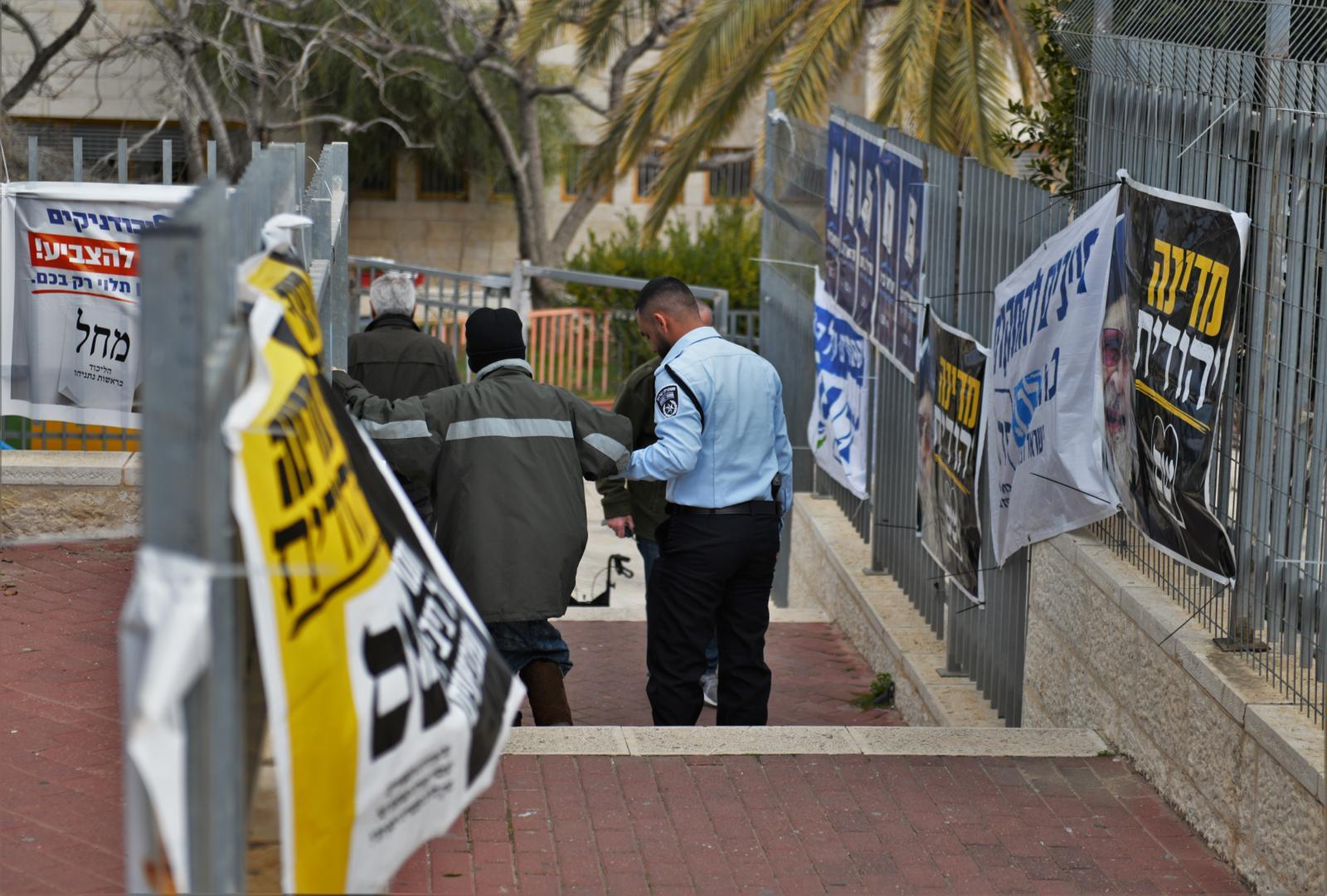 פעילות המשטרה בעת הבחירות (צילום: דוברות המשטרה)