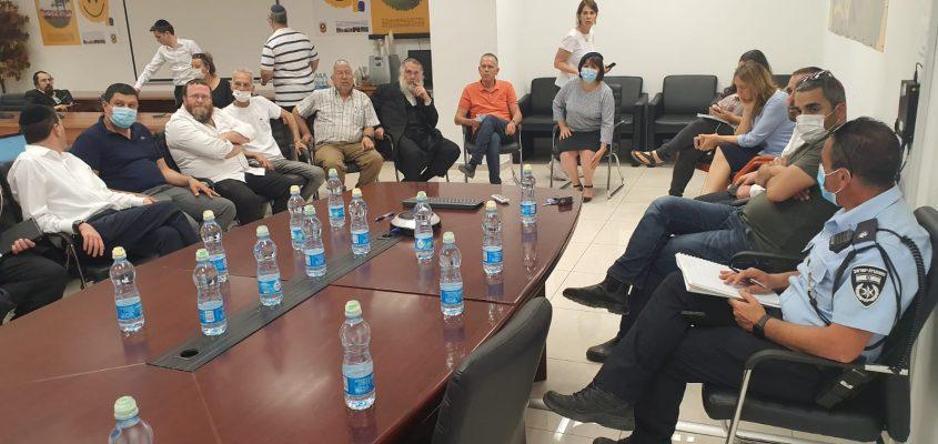 כינוס החירום בעיריית בית שמש (צילום: דוברות העירייה)