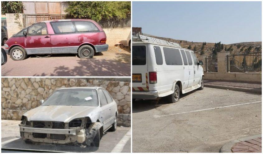 רכבים נטושים (צילום אילוסטרציה: השומרים)