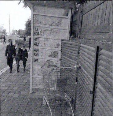 עגלת קניה שאותרה ברחוב (צילום: עיריית בית שמש)